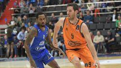 Valencia en Van Rossom winnen eerste wedstrijd in halve finale Eurocup basket tegen Kazan