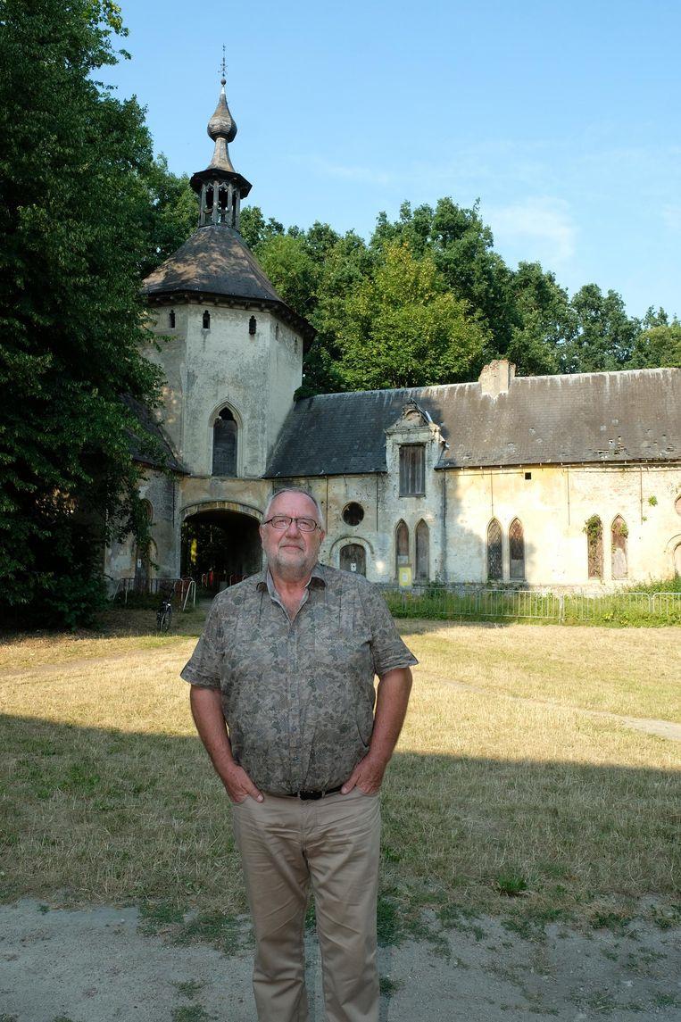 Burgemeester Ivo Wynants bij de Jan Vlemincktoren, een project dat hij nog heel graag wil opvolgen