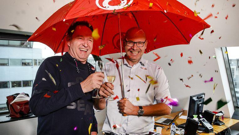 Archieffoto van Peter Lubbers (rechts) met SBS-weerman Piet Paulusma Beeld ANP