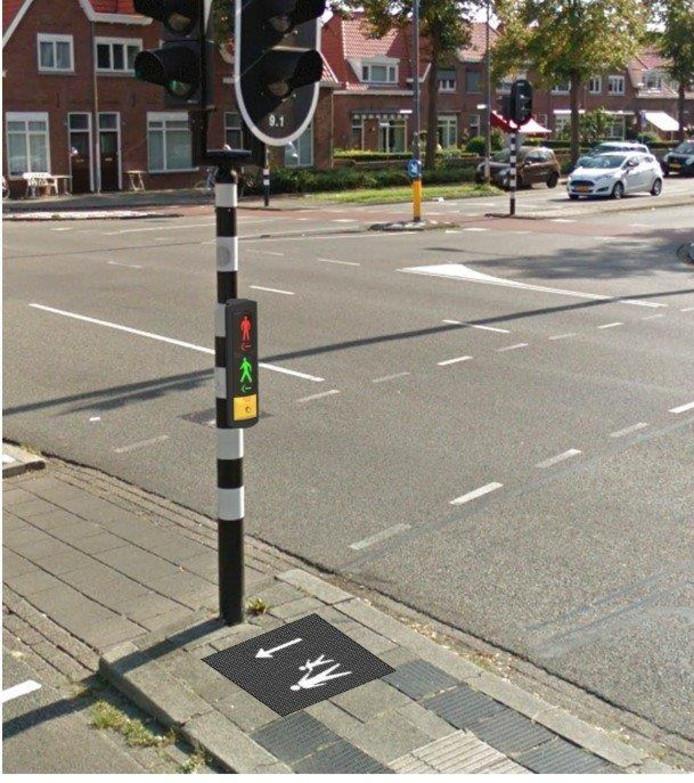 Nieuw verkeerslicht op de kruising Graafseweg-Lagelandstraat.