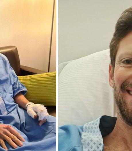 """Romain Grosjean opéré avec succès aux mains mardi: """"Une vraie galère pour écrire sur mon tel"""""""