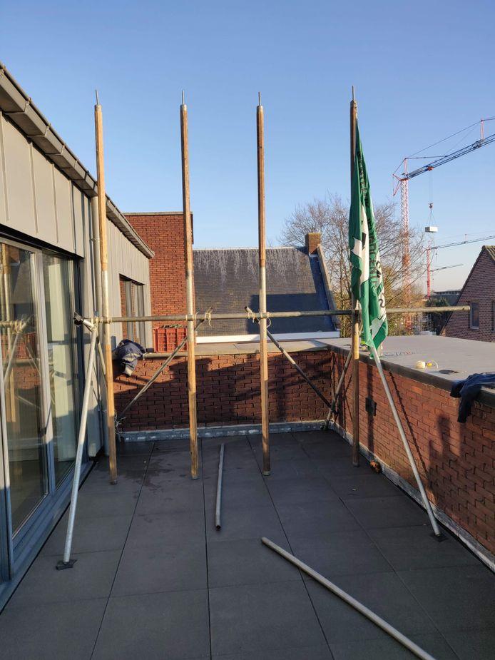 Drie Merksplasse verenigingen sloegen de handen in elkaar voor een uniek livestreamevent vanop het dak van het gemeenschapscentrum.