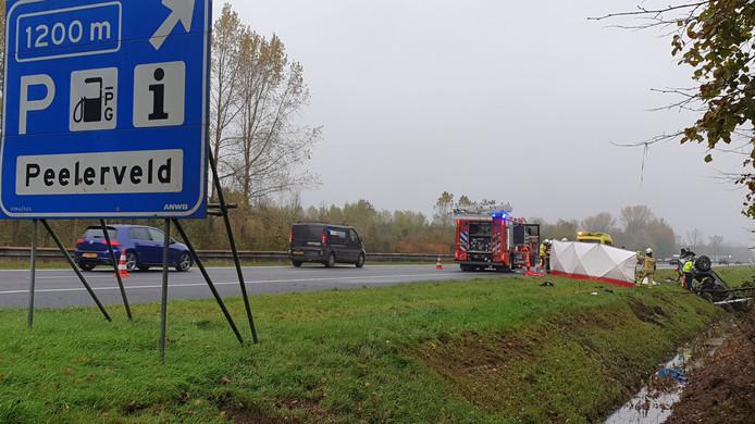 De hulpdiensten kwamen massaal ter plaatse voor het ongeluk bij Assen.