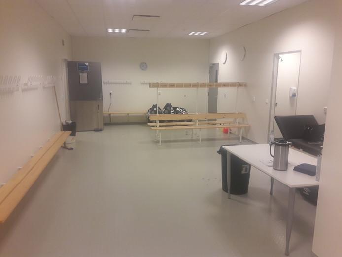 De kleedkamer van PSV in het Haugesund Stadion