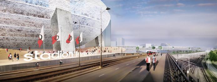 Het laboratorium moet wijken voor het nieuwe stadion van Feyenoord.
