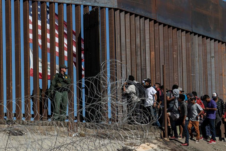 Beeld ter illustratie, grensovergang El Chaparral in Tijuana, Baja California, Mexico.