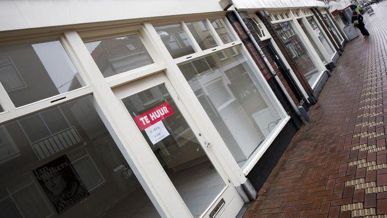 De centrale winkelgebieden van een gemeente vertonen nog steeds de meeste gaten. © ANP Beeld