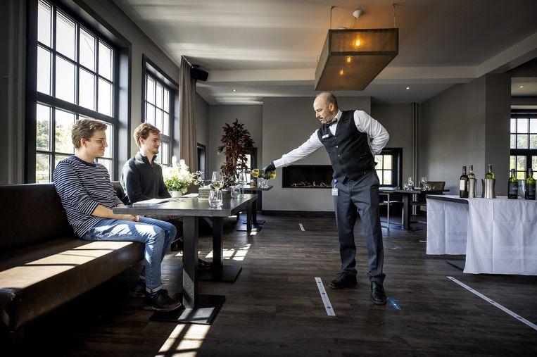 Gasten in het restaurant van Fletcher hotel Duinoord. Beeld ANP