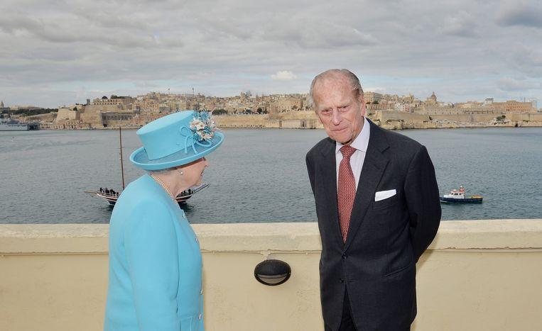 Koningin Elizabeth en prins Philip bezochten in 2015 Malta.