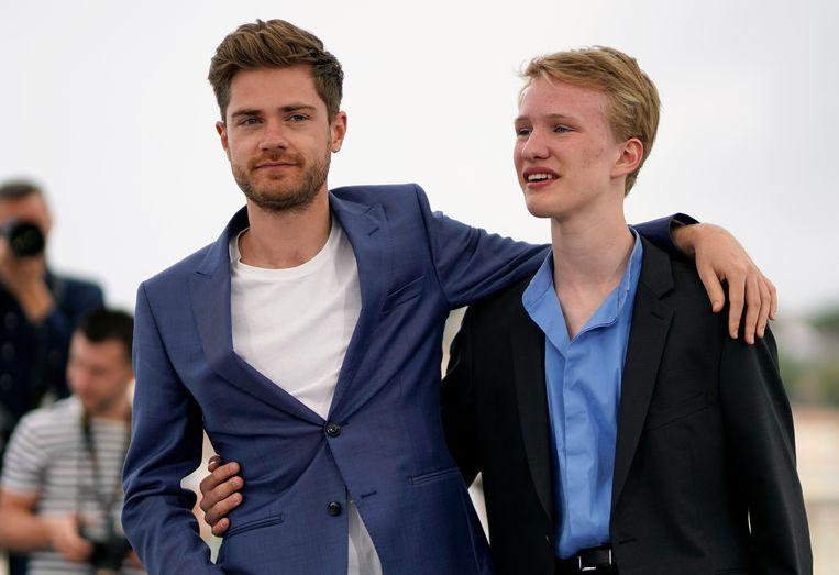 Lukas Dhont en hoofdrolspeler Victor Polster.
