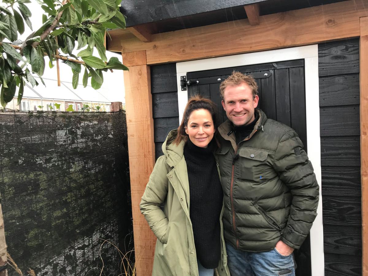 Evelyn en Tom tijdens opnames van Eigen Huis & Tuin.
