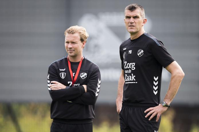 Rick Kruys en interim-trainer Marinus Dijkhuizen hadden vandaag tegen FC Emmen de leiding over FC Utrecht. De ploeg uit Drenthe won met 1-2.