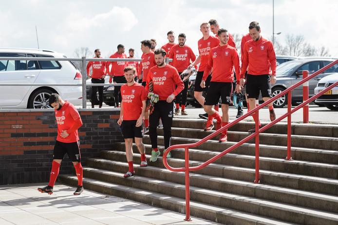 Pusic hield maandag een besloten training in het stadion. Dinsdag wacht PEC Zwolle-thuis.