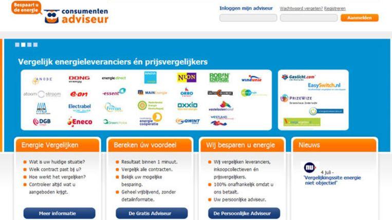 Consumentenadviseur.nl is een van de vergelijkingswebsites die wél goed uit het onderzoek van de NMa kwam. © Consumentenadviseur.nl Beeld