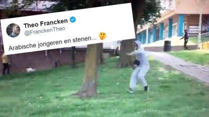 """Massa reacties op tweet van Theo Francken: """"Arabische jongeren en stenen..."""""""