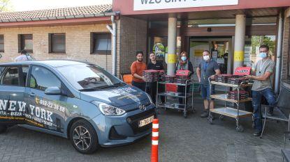 Medewerkers woonzorgcentrum Sint-Jozef worden getrakteerd op pizza's