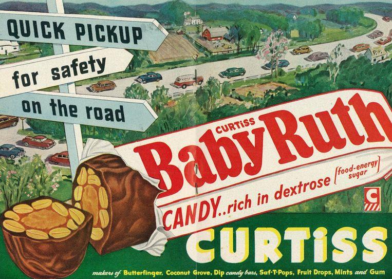 Een oude Amerikaanse advertentie waarin suikergoed als lekker én heilzaam wordt voorgesteld. Veel wetenschappers gaven vetten de schuld van obesitas. Beeld