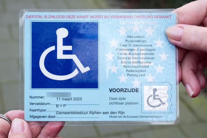 Parkeerkaart voor gehandicapten is niet meer nodig in Alphen dankzij een speciale app.