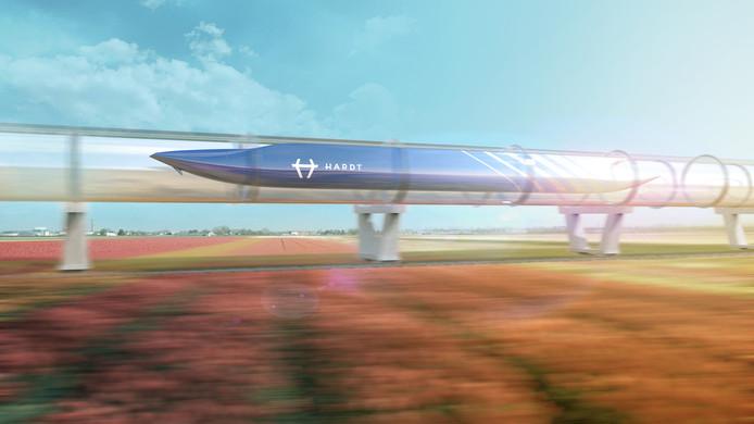 Zo zou de hyperloop er tussen Breda en Utrecht er in de toekomst uit kunnen gaan zien.