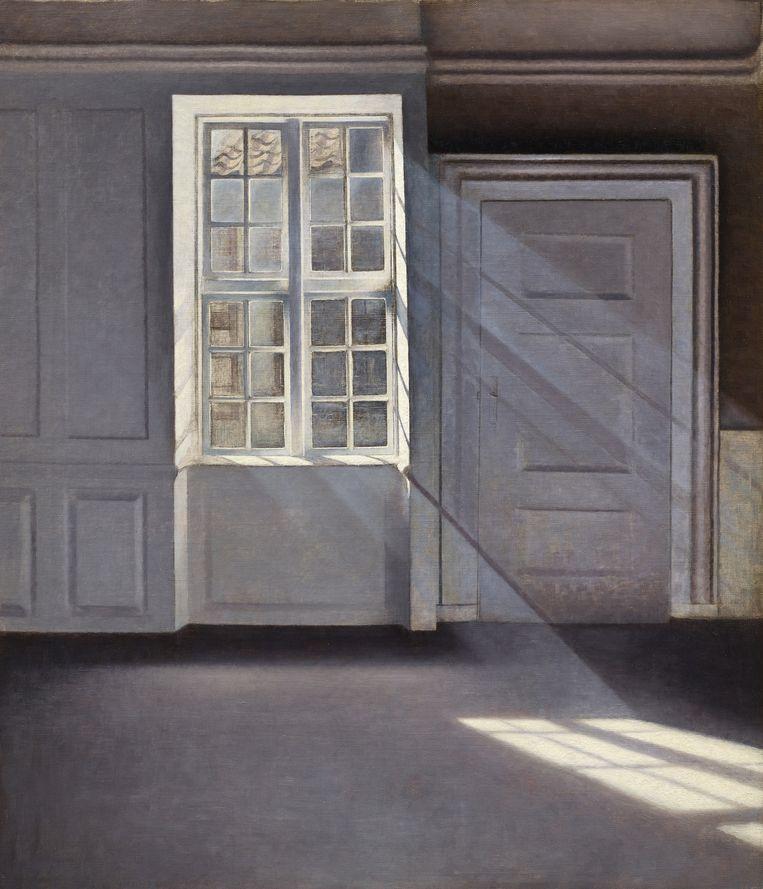 Vilhelm Hammershøi, Sunbeams, 1900. Beeld