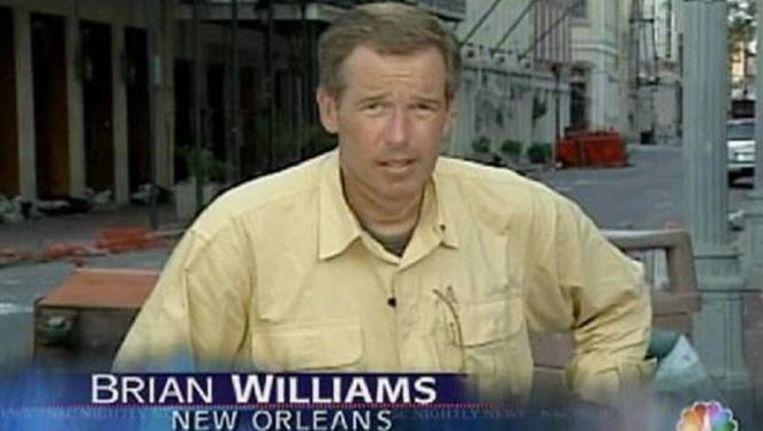 Brian Williams in 2005 aan het werk in New Orleans.