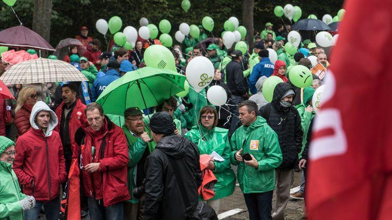 Betogers in Gent.