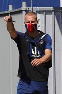 Mitchel Bakker bij de training van PSG op 25 juni.