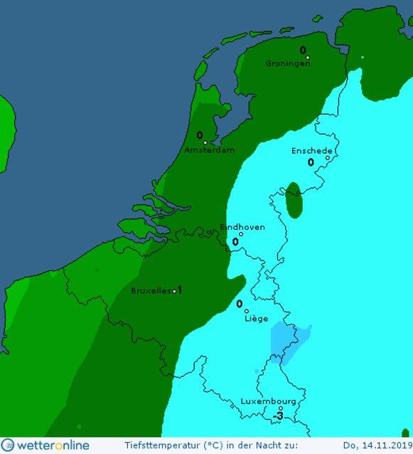 Komende nachten kan het in de Benelux tot lichte vorst komen. Ook volgende week blijft het 's nachts kouder.