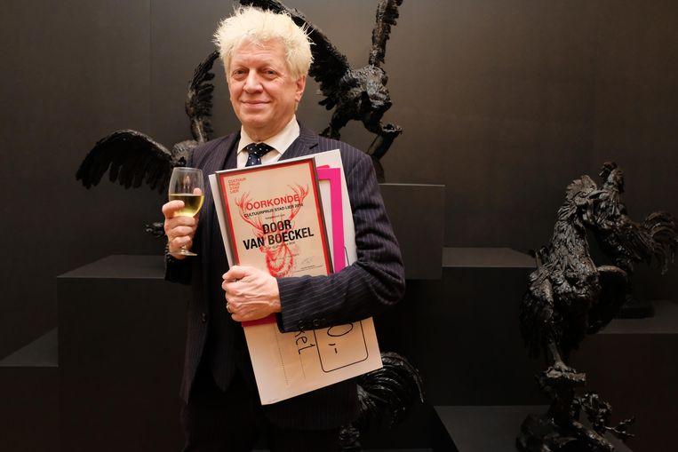 Acteur en regisseur Door Van Boeckel sleepte de Lierse cultuurprijs in de wacht.