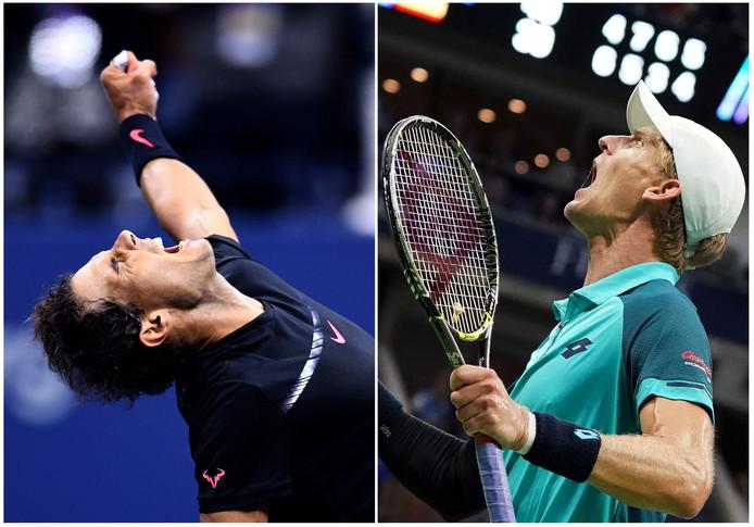 Nadal (l) en Anderson troffen elkaar vier keer eerder.