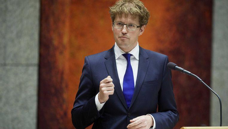 Staatssecretaris van Onderwijs Sander Dekker spreekt in de Tweede Kamer over Ibn Ghaldoun. Beeld ANP