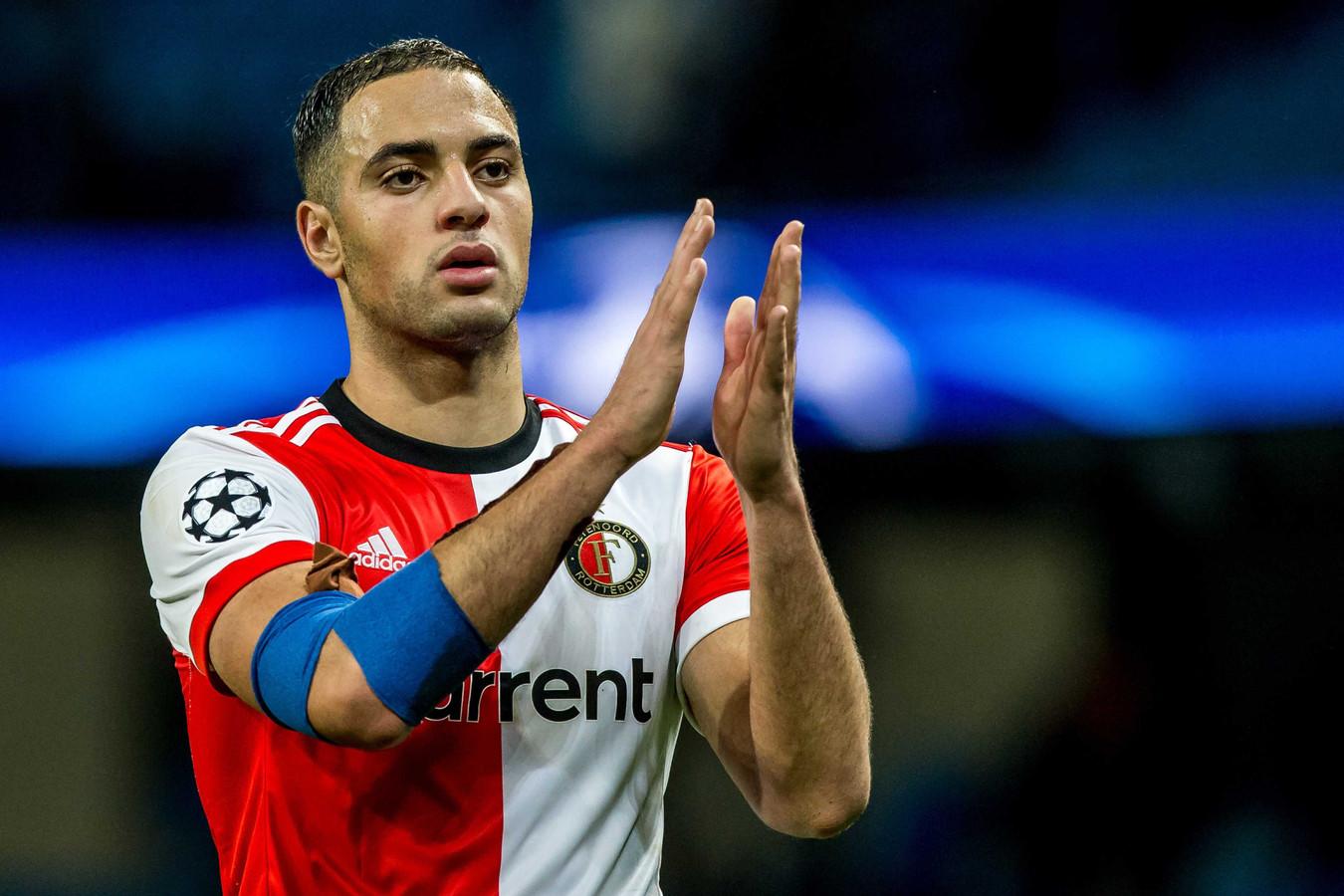 Sofyan Amrabat speelt pas een jaar in het shirt van Feyenoord.