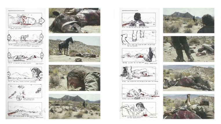 Storyboard van Brimstone in Alles is film. Beeld