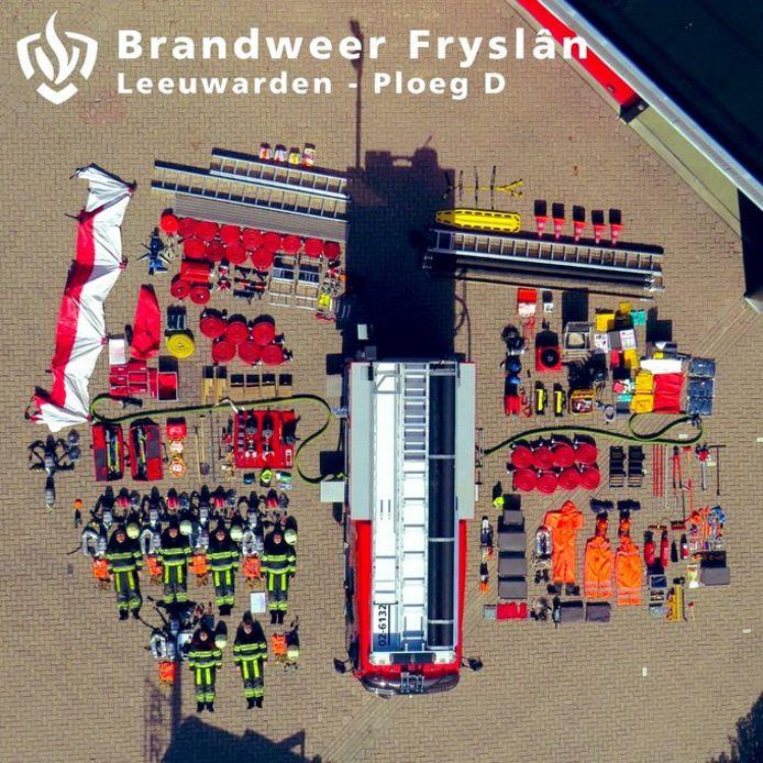 De brandweer Friesland.