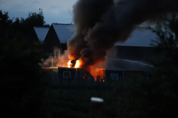 Brand in de woonunits in Gassel.