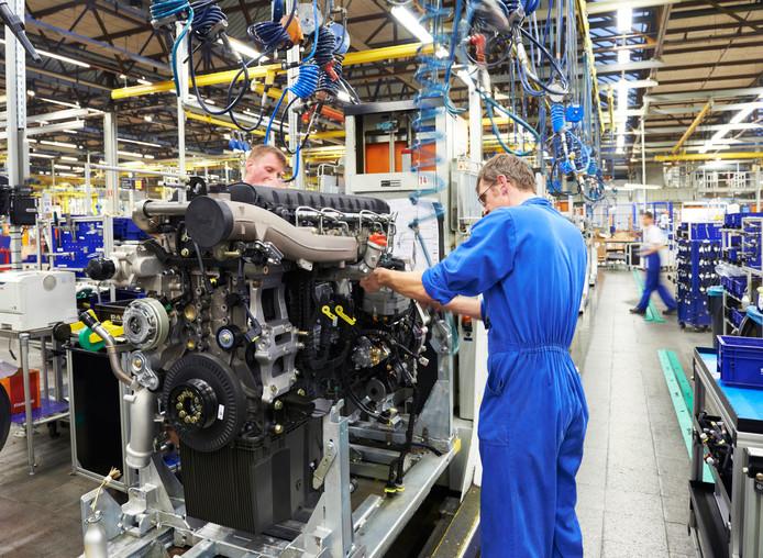De motorenproductie bij DAF in Eindhoven (archieffoto).