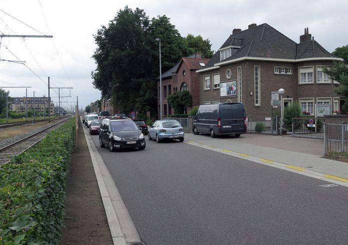 Ook in de Leenhofstraat zal gewerkt worden, maar alleen in het weekend.