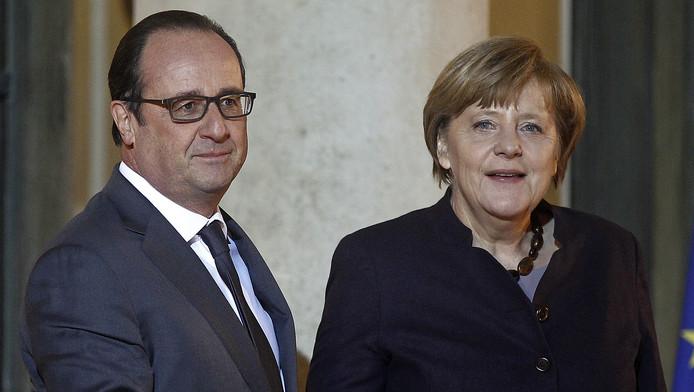 President Hollande en bondskanselier Merkel