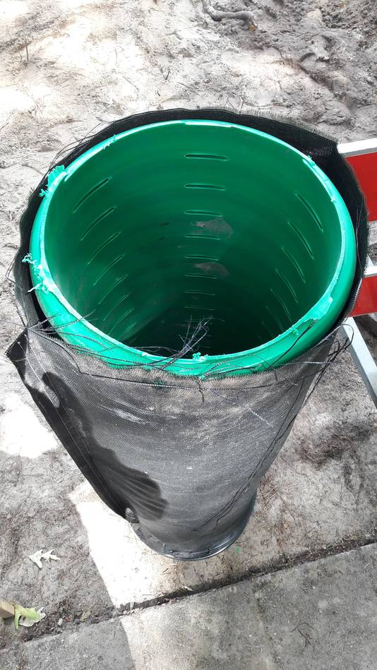 Infiltratiebuizen voor regenwater als deze moeten in Putte het rioolstelsel helpen ontlasten. Dit systeem wordt aangelegd naast een vuilwaterriool. Regenwater kan via de gaatjes rustig wegzakken in de grond.