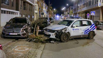 Politieman verliest controle over het stuur: drie agenten naar ziekenhuis