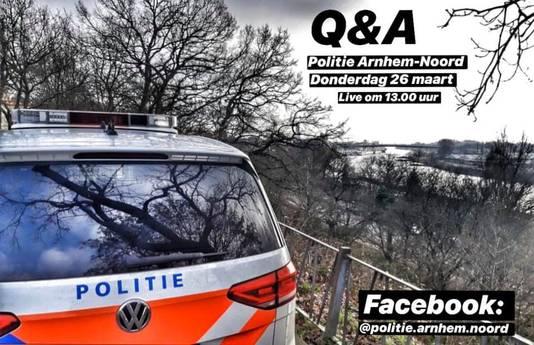 De aankondiging van het vragenuurtje van de politie