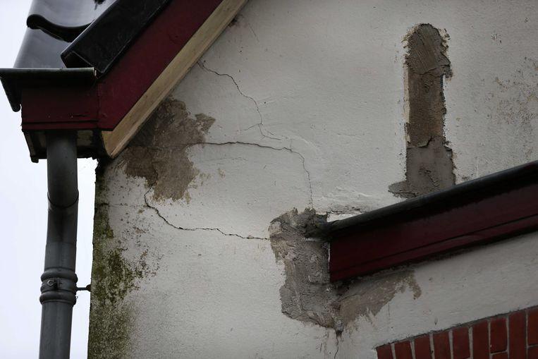 Illustratiebeeld van schade aan een woning in Slochteren.