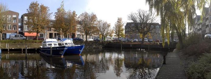 De kop van de Oudenbossche haven in 2008. foto Thom van Amsterdam