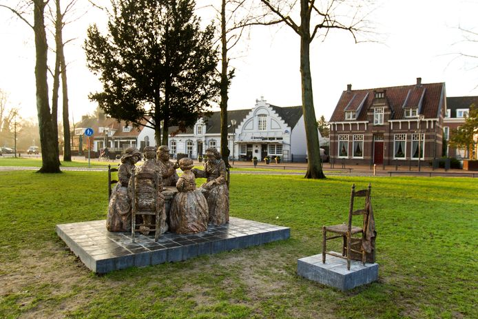 Het Park in Nuenen, waar de ijsbaan rondom het standbeeld van de Aardappeleters zou worden opgesteld.