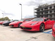 Een parkeerdek vol Ferrari's op Strijp-S
