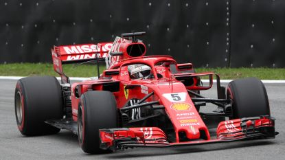 Vettel snelste in derde vrije oefensessie, Vandoorne klokt traagste tijd in Brazilië