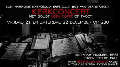 Koninklijke Harmonie Sint-Cecilia brengt kerstconcert met solist Koen Coppé