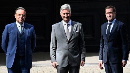 De Wever en Magnette brengen eerste verslag naar het Paleis