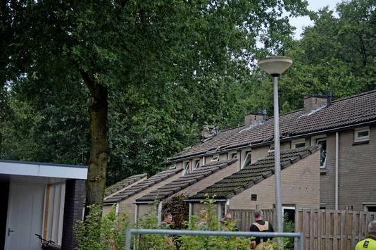 De woningen aan de Zwaluwstraat.