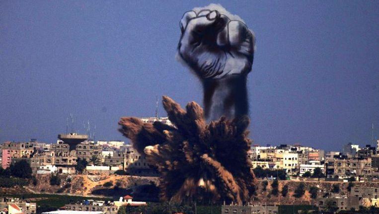 Eén van de werken van de Palestijnse kunstenaar Tawfik Gebreel. Beeld Tawfik Gebreel, Twitter
